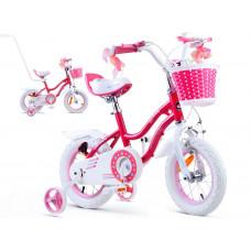 """Gyerek bicikli ROYALBABY Star Girl 12"""" RB12G-1 - rózsaszín Előnézet"""
