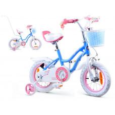 "Gyerek bicikli ROYALBABY Star Girl 12"" RB12G-1 - kék Előnézet"