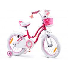 """Gyerek bicikli ROYALBABY Star Girl 16"""" RB16G-1 - rózsaszín Előnézet"""