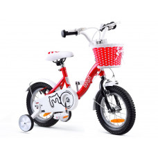 """Gyerek bicikli ROYALBABY Chipmunk MM 12"""" CM12-2 + szülőkar - piros Előnézet"""