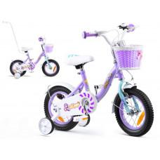 """Gyerek bicikli ROYALBABY Chipmunk MM 12"""" CM12-2 + szülőkar - lila Előnézet"""
