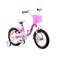 """Gyerek bicikli ROYALBABY Chipmunk MM 14"""" CM14-2 + szülőkar - rózsaszín Előnézet"""