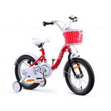 """Gyerek bicikli ROYALBABY Chipmunk MM 14"""" CM14-2 + szülőkar - piros Előnézet"""