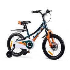 """Gyerek bicikli ROYALBABY Explorer 16"""" CM16-3 - sötétzöld/narancssárga Előnézet"""