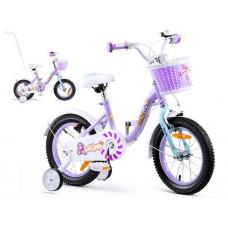 """Gyerek bicikli ROYALBABY Chipmunk MM 14"""" CM14-2 + szülőkar - lila Előnézet"""