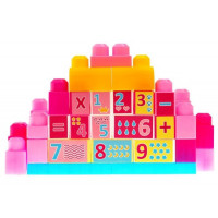 Építőkocka készlet 35 darabos Inlea4Fun PINK - Rózsaszín