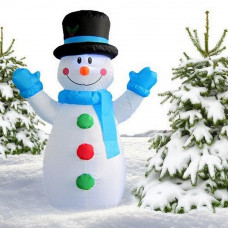 Inlea4Fun felfújható hóember 120 cm Előnézet