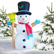 Inlea4Fun felfújható hóember seprűvel 120 cm Előnézet