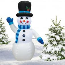 Inlea4Fun felfújható hóember 180 cm - kék Előnézet