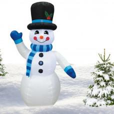 Inlea4Fun felfújható hóember 240 cm - kék Előnézet