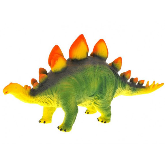 Dinosaurusz figura - Sztegoszaurusz narancssárga taréjjal Inlea4Fun