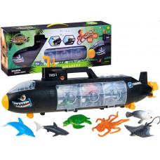 Inlea4Fun SHARK SUBMARINE Tengeralattjáró tengeri élőlényekkel Előnézet