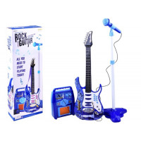 Inlea4Fun Gitár Szett Mikrofonnal és Erősítővel - Kék
