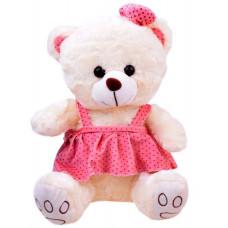Inlea4Fun Plüss lány medve szoknyában 30 cm - fehér Előnézet