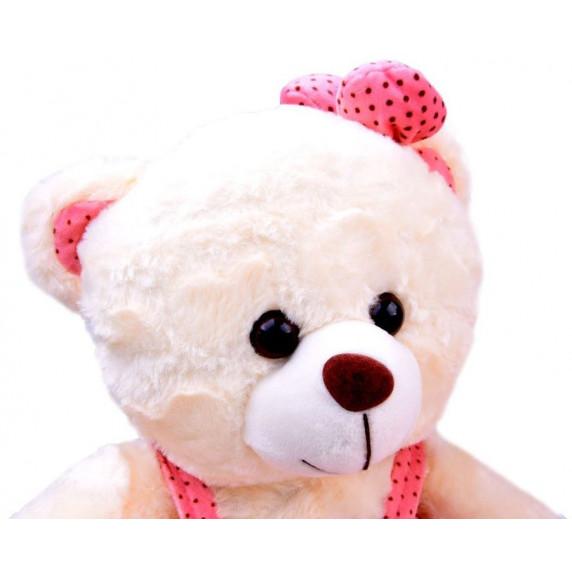 Inlea4Fun Plüss lány medve szoknyában 30 cm - fehér