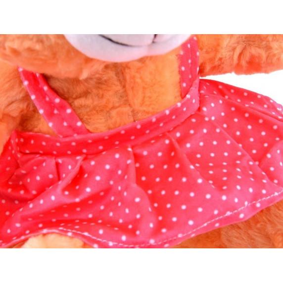 Plüss lány medve szoknyában Inlea4Fun 30 cm - barna