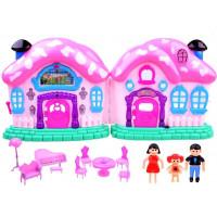 Inlea4Fun BEAUTIFUL HOUSE Összecsukható babaház bútorokkal