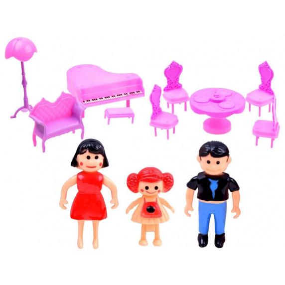 Összecsukható babaház bútorokkal Inlea4Fun BEAUTIFUL HOUSE