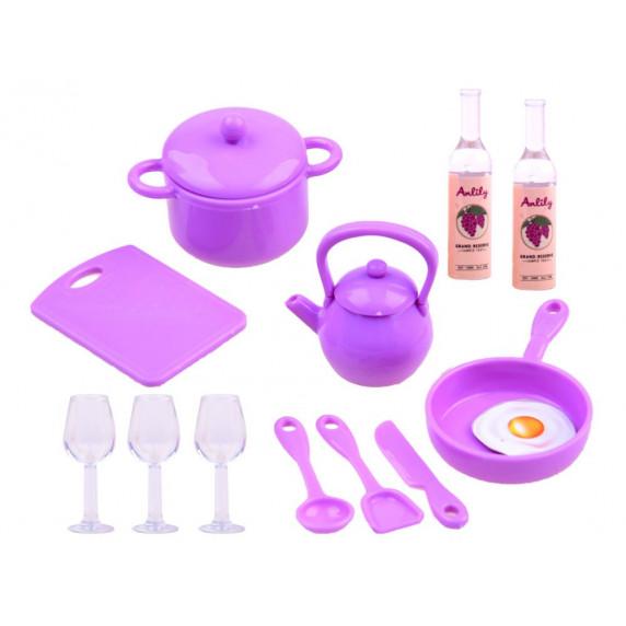 Játékkonyha babával és kiegészítőkkel Inlea4Fun ANLILY