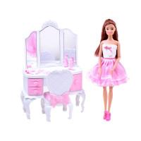Kozmetikai asztal játékbabával és kiegészítőkkel Inlea4Fun ANLILY