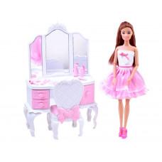 Kozmetikai asztal játékbabával és kiegészítőkkel Inlea4Fun ANLILY  Előnézet