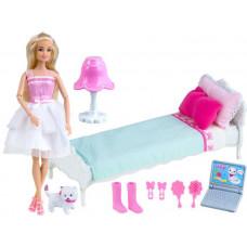 Játékbaba ággyal és kiegészítőkkel Inlea4Fun ANLILY  Előnézet