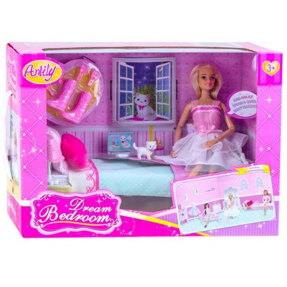 Játékbaba ággyal és kiegészítőkkel Inlea4Fun ANLILY