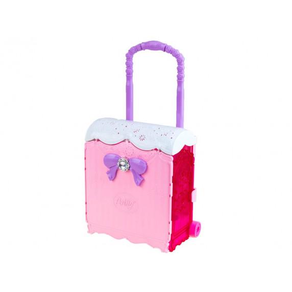 Szétnyitható babaház kerekeken játékbabával Inlea4Fun Anlily DREAM BEDROOM