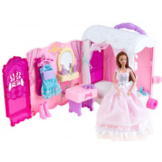 Szétnyitható babaház kerekeken játékbabával Inlea4Fun Anlily DREAM BEDROOM Előnézet