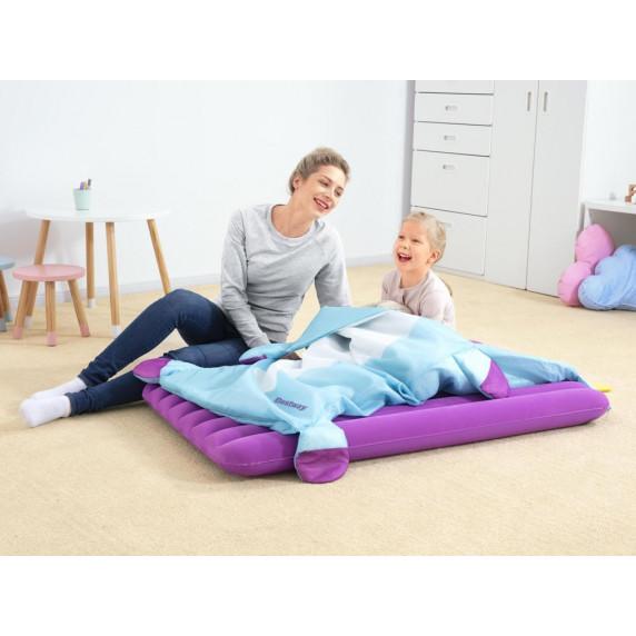 Felfújható matrac + hálózsák 132x76 cm BESTWAY Unikornis