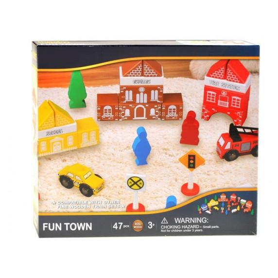 Inlea4Fun FUN TOWN fa városépítő szett