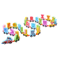 Fa kisvonat betűkkel Inlea4Fun CARTOON ALPHABET CAR