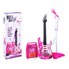 Inlea4Fun Gitár Szett Mikrofonnal és Erősítővel - Rózsaszín Előnézet
