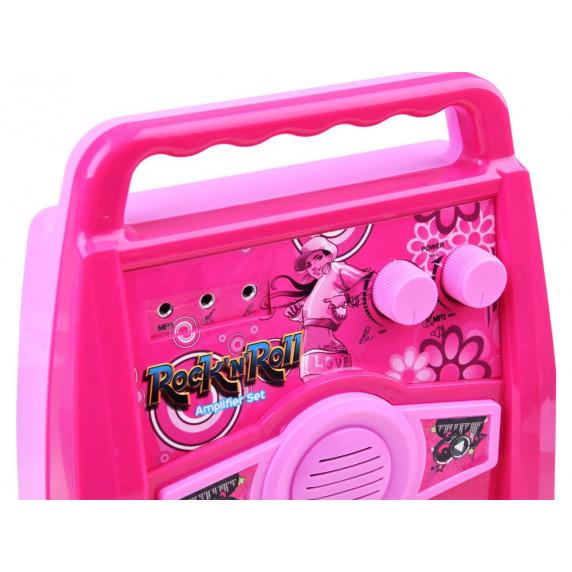 Inlea4Fun Gitár Szett Mikrofonnal és Erősítővel - Rózsaszín