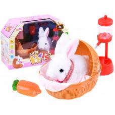 Inlea4Fun Moe Rabbit interaktív nyuszi kosárral Előnézet