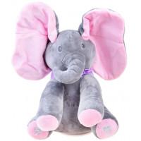 Inlea4Fun Interaktív Plüss figura elefánt - rózsaszín