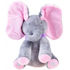 Inlea4Fun Interaktív Plüss figura elefánt - rózsaszín Előnézet