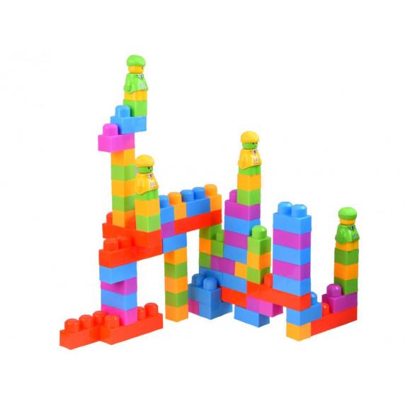 Építőkocka készlet Inlea4Fun BLOCKS PUZZLE GAME - 280 darabos
