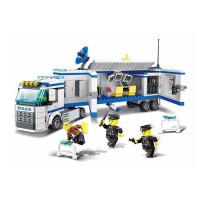 Építőjáték Rendőr állomás 395 db Inlea4Fun POLICE