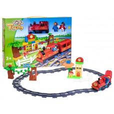 Inlea4Fun TRAIN Játék vasút kiegészítőkkel - piros Előnézet