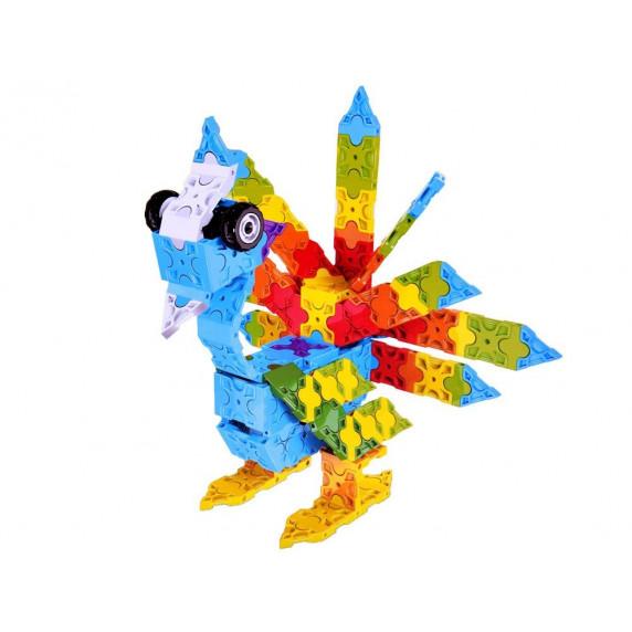 Kreatív építőjáték Inlea4Fun ANIMAL WORLD BLOCKS 3D - 227 darabos