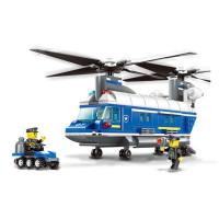 Építőjáték Rendőrségi helikopter 427 db Inlea4Fun POLICE HELICOPTER