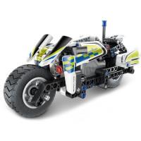 Építőjáték Rendősrégi motor Inlea4Fun MECHANICAL MASTER POLICE 193 darabos