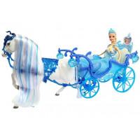 Jéghercegnő baba hintóval és lóval Inlea4Fun ILLUSION STATE