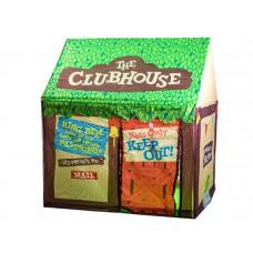 Gyerek sátor Inlea4Fun CLUBHOUSE - zöld/barna faházikó Előnézet