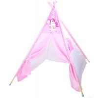 Inlea4Fun TENT HOUSE gyerek sátor - egyszarvú rózsaszín