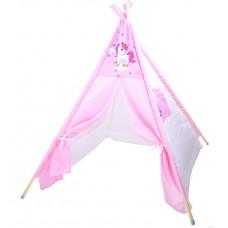 Inlea4Fun TENT HOUSE gyerek sátor - egyszarvú rózsaszín Előnézet