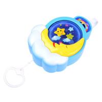Inlea4Fun CRIB TOYS Felhúzhatós zenélő baba játék - Holdacska