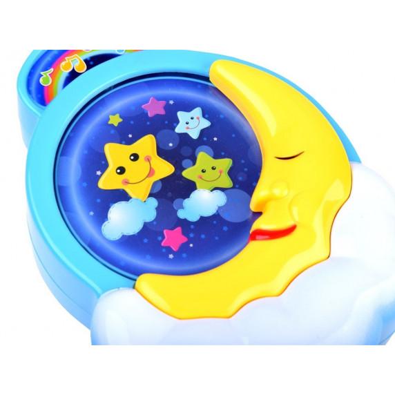 Felhúzhatós zenélő baba játék Inlea4Fun CRIB TOYS - Holdacska