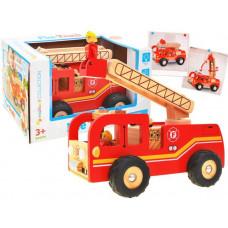 Fa tűzoltó autó Inlea4Fun FIRE TRUCK  Előnézet